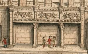 Louis, Boudan, Veüe de la grande salle du palais de Poictiers bastie par Jean duc de Berry (Paris, BnF, Est., coll. Gaignières (source Gallica).