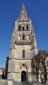 Saint-Maixant-l'école, abbaye Saint-Maixant, tour porche.