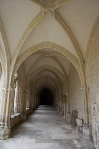 Saint-Jouin-de-Marnes, cloître de l'abbaye, galerie sud.